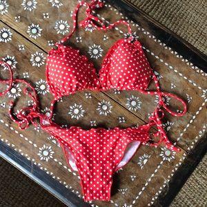 Other - Read and while polka dot bikini